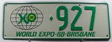 """Nummernschild Australien Queensland """"WORLD EXPO-88-BRISBANE"""". 11553."""