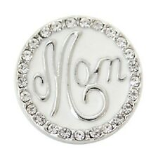 Snap MOM Rhinestone Interchangeable Jewelry Button 18mm Fits Ginger Snaps