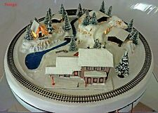 Z Scale Z Gauge NOCH Wintersdorf Lighted Winter Layout w/MARKLIN Track $0 Ship!
