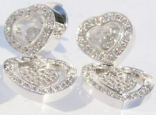 CHOPARD 18K WHITE GOLD HAPPY AMORE DIAMOND EARRINGS 70% OFF