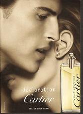 Publicité Advertising  2010  CARTIER déclaration  parfum pour homme
