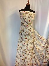"Beautiful German Exclusive Silk & Cotton Floral Print Fabric 56""143cm Dress Sew"