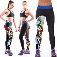Women 3D Yoga Gym Trousers Running Sport Leggings Fitness Workout  Jogger Pants