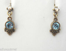 NWT SWEET ROMANCE THE MANY COLORS OF YOU EARINGS BRONZE/ BLUE CRYSTAL