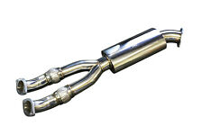 CNT Racing 90mm Race Midpipe / Y-Pipe w/ Muffler 76mm exit for 09-17 Nissan GTR