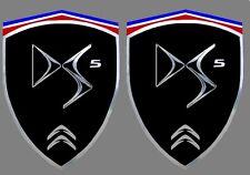 2 adhésifs stickers noir & chrome CITROEN DS5  (à coller sur ailes avant)