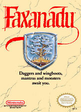 Nintendo Nes  FAXANADU  Box Cover Fridge Magnet Game Room Decor