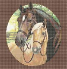 """Counted Cross Stitch Kit """"Beautiful Horses"""" by Andrea's Designs"""