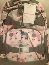 NEW POTTERY BARN KIDS LARGE PINK GRAY POODLE BACKPACK dog