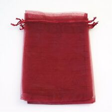 1, 10, 25, 50 or 100 Organza Bags / Jewellery Pouches 11x16cm Various Colours UK
