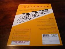 KRAFTWERK TOUR DE FRANCE!!!!!!!!!!RARE FRENCH PRESS/KIT