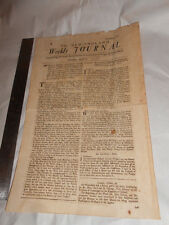 Antique Reprint New England Weekly Journal 1728 Slave Ads Stocking Loom News+
