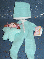 "Madeline 8"" doll Eden/LearningCurve MINT GREEN FOOTED PAJAMAS Clothes Set"