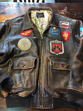 Fab AVIREX G1 Flying Leather Mens Jacket Large Collectors Item!