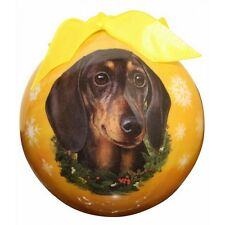 Black Dachshund Christmas Ball Ornament