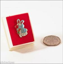 GCC Rabbit character vintage enamel pin badge tie tac boxed