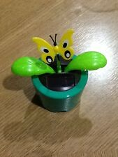 SOLAR POWERED DANCING BUTTERFLY WITH GREEN BASE FLOWER POT