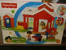 Fisher Price Little People New Stable Horse Farm Barn pump Koby bucket swing toy