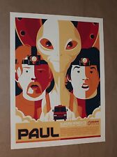PAUL Movie Print Poster by TOM WHALEN Simon Pegg Nick Frost