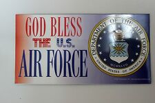 New God Bless United States Air Force Car Magnet Made In The USA Military Airmen