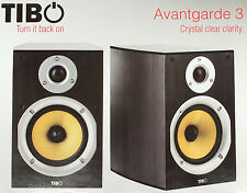 TIBO Avantgarde 3 Bookshelf Speakers Hifi Speakers Pair Passive Monitor Black
