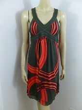 DKNY Jeans Multi-color V-neck Sleeveless Dress Size M