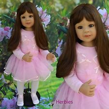 "Masterpiece Sabrina Brunette by Monika Levenig 34"" Full Vinyl Doll"