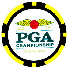 2016 PGA CHAMPIONSHIP (Baltusrol) - Yellow - POKER CHIP Golf Ball Marker