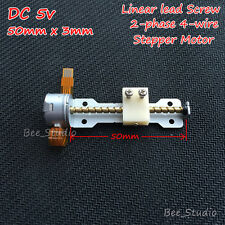 DC 5v 2 phase 4-wire Mini Stepper Motor linear screw shaft lead nut slider Stage