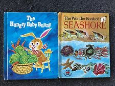 2 Wonder Books The Hungry Baby Bunny & The Wonder Book of the Seashore HB