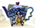 ROMERO BRITTO LARGE TEAPOT - FLOWER GIRL DISCONTINUED ** NEW **