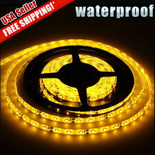 Amber Yellow 5M/16.4Ft 300 LED Strip Light Tape Flexible Waterproof 3528 SMD 12V