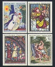 France 1963 Art/Paintings/Stained Glass/Religion/Fairies 4v set (n32996)