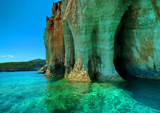 GREEN SEA ZAKYNTHOS GREECE NEW A2 CANVAS GICLEE ART PRINT POSTER