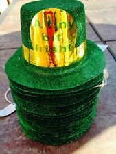 ST PATRICKS DAY MINI GREEN GLITTER SPARKLE TOP HAT **Close Out Sale*******