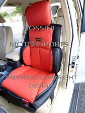 TO FIT A NISSAN NAVARA CAR, SEAT COVERS, YS 06 ROSSINI SPORTS RED/BLACK