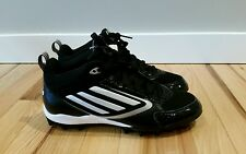 NEW Adidas Lightning MD Black White Football Cleats Men's Size: 8