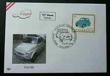 Austria PUCH 500 Car Auto Transport Vehicle (stamp FDC)