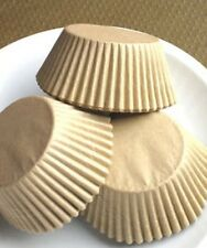 500 Natural UNBLEACHED STANDARD SIZE Cupcake Muffin Liners Baking Cups Wrappers