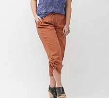 Lane Bryant Women's Burnt Orange Cargo Ultra Light Drawstring Capri Jogger 22/24