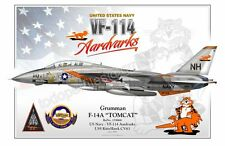 """F-14A """"TOMCAT"""" US Navy - VF-114 Aardvarks -  Airplane Profile Poster"""