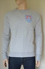 New abercrombie & fitch us soccer états-unis football gris sweat-shirt xxl