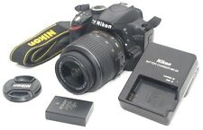 Nikon D3200 24.2MP DSLR  AF-S DX VR 18-55mm Lens Low Shutter Count