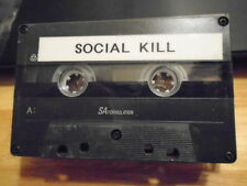 VERY RARE Social Kill DEMO CASSETTE TAPE industrial metal UNRELEASED kmfdm puppy