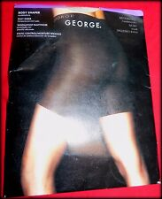 George, Shiny Pantyhose, Ivory Control Top Body Shaper, Nylon Spandex, M/T