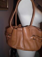 AUTHENTIC COLE HAAN BRITISH TAN BUCKET HANDBAG GORGEOUS MINT