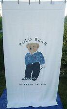 Polo Bear Ralph Lauren Oversized Body Beach Towel Golf Golfing