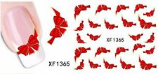 NAIL ART STICKERS WATER DECAL NAIL TRANSFER WRAPS RED BOW STICKER CUTE STZ034
