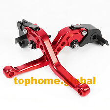 Short CNC Clutch Brake Levers For BAJAJ Pulsar 200 NS 200NS All Years Red