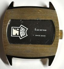 LUCERNE JUMP HOUR WRIST WATCH RUNS FOR PARTS/REPAIRS #W232